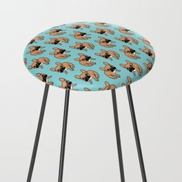 The Cute Black Mask Fawn French Bulldog Needs Some Attention Counter Stool