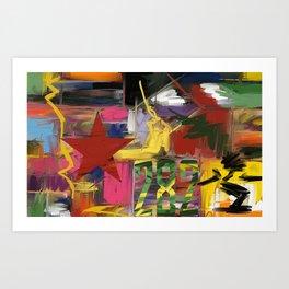 Fantasia in Pixels Art Print