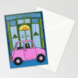 Le Mew Cat Cafe Stationery Cards