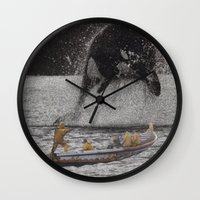 orca Wall Clocks featuring Orca by Lerson