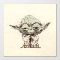 yoda Canvas Prints featuring Yoda by Seo Kim