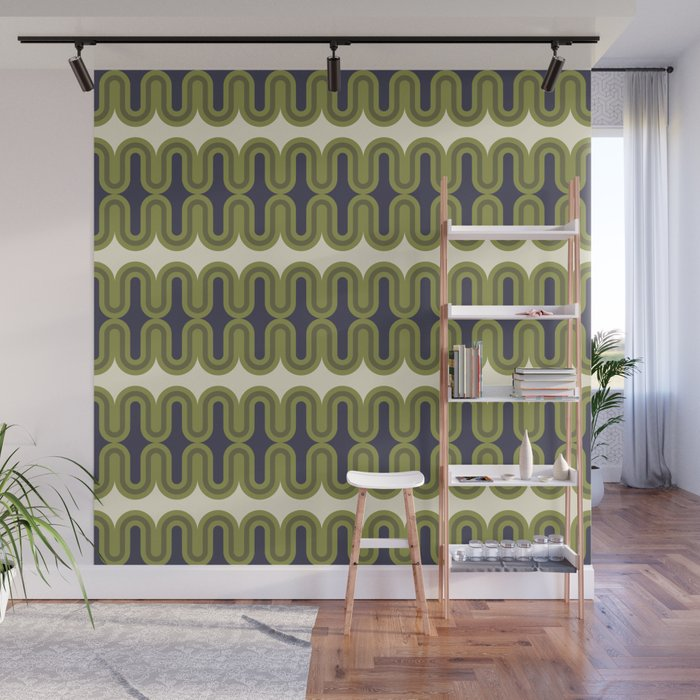 Radiator in Olive and Purple Wall Mural