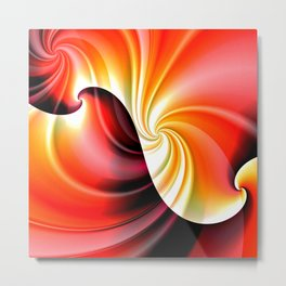 Part of a Wave (red-gold) Metal Print