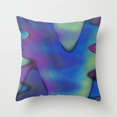 tie dyed waves Throw Pillow