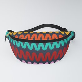 Colorful waves, abstract design Fanny Pack