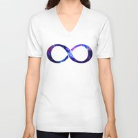 galaxy V-neck T-shirts featuring Galaxy by Matt Borchert