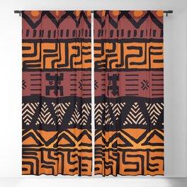 Tribal ethnic geometric pattern 021 Blackout Curtain
