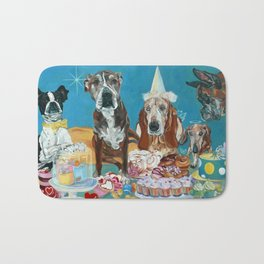 The Last Dessert Dog Portrait Bath Mat