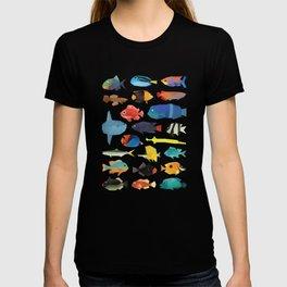 Tropical Fish chart T-shirt