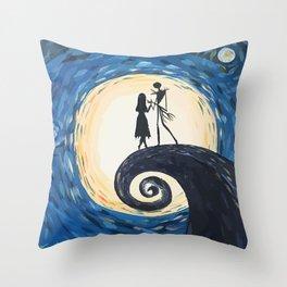 Jack Skellington & Sally Throw Pillow