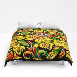 The Floral Motif Comforters