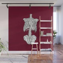 Human Skeleton Anatomy Illustration Wall Mural