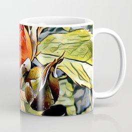 Red Garden Rose Coffee Mug
