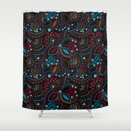 Abstract unusual cute background seamless pattern Shower Curtain