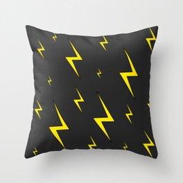Lightning Bolt Pattern Throw Pillow