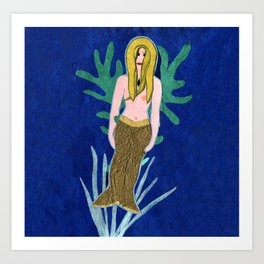 La Sirena Mermaid Art Print