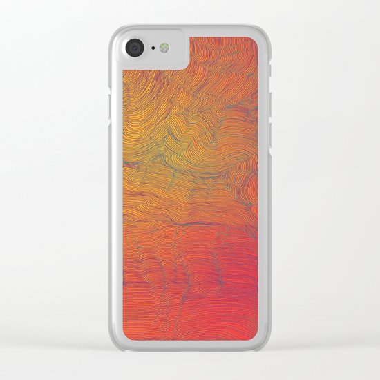 Auric Waves Clear iPhone Case