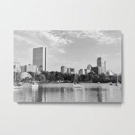 Black & White Boston Skyline I Metal Print