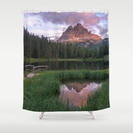 Dolomites 26 - Italy Shower Curtain