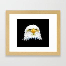 bald eagle vector art Framed Art Print