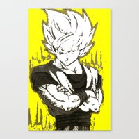 goku Canvas Prints featuring GOKU  by DeMoose_Art
