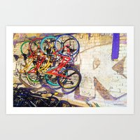 a colorful ride Art Print
