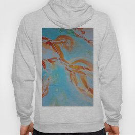 GoldFish Bubbles 1nw watercolor by CheyAnne Sexton Hoody