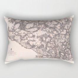 Map of Cold Harbor, Virginia (June 1-3, 1864) Rectangular Pillow