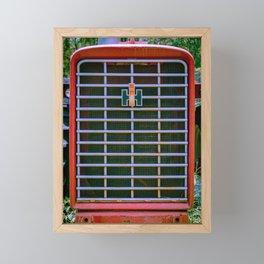 International Farmall 656 Grill Red Tractor Front Framed Mini Art Print