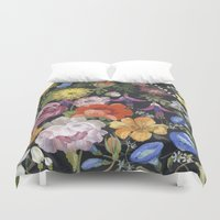 baroque Duvet Covers featuring Baroque Garden by Edith Jackson-Designs