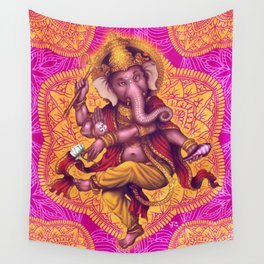 Ganesha (Color Variation 4) Wall Tapestry