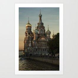 Church of the Savior on Blood Art Print