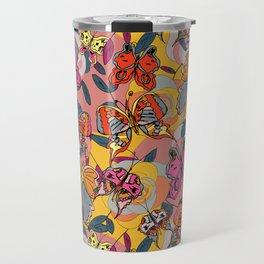 Psychedelic Butterflies Travel Mug