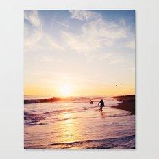 Newport Beach at Sunset Canvas Print