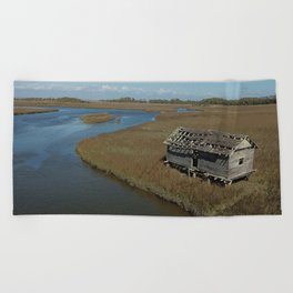 Bald Head Creek Boathouse | Bald Head Island, NC Beach Towel