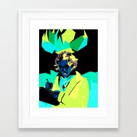 beethoven Framed Art Prints featuring Beethoven by James Dez