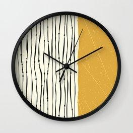 Gold Zebra Stripes Wall Clock