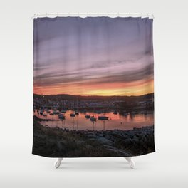Last Rockport Sunset of Summer Shower Curtain