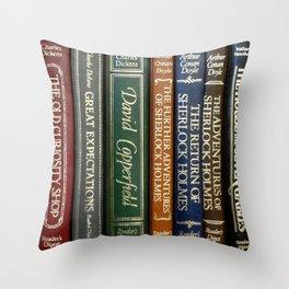 Books 2 Throw Pillow