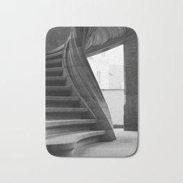 Sand stone spiral staircase Bath Mat