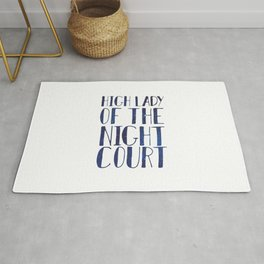 High Lady of the Night Court Rug