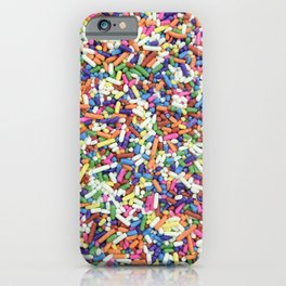 Rainbow Candy Dessert Sprinkles iPhone Case