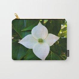 Kousa Dogwood Flower Vertical Carry-All Pouch
