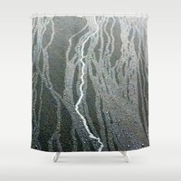 lightning Shower Curtains featuring Lightning  by Ethna Gillespie