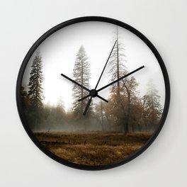 Fog in th Valley Wall Clock