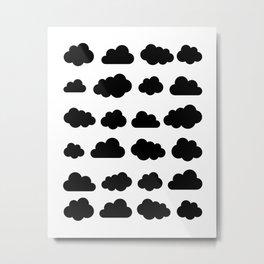 Black clouds - Black and white art Metal Print