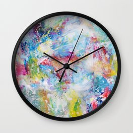 White Paint Splash Wall Clock