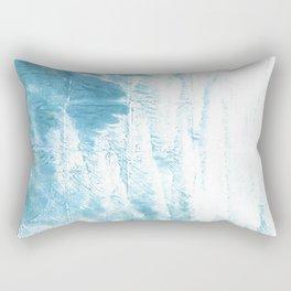 Dark sky blue abstract watercolor Rectangular Pillow