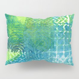 Industrial Blues and Greens Pillow Sham