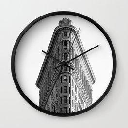 Flatiron Black and White NYC Wall Clock